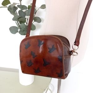 Fortune Duck Small Brown Leather Bag